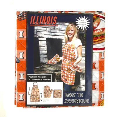 Collegiate BBQ Apron/Mit University of Illinois