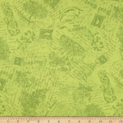 Flights of Fancy Toile Green