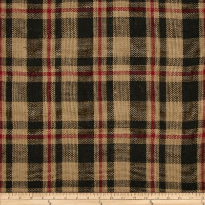 "60"" Sultana Burlap Plaid Red/Black"