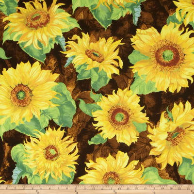 Slice of Sunshine Giant Sunflowers Dark Brown