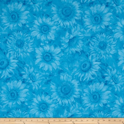 Slice of Sunshine Sunflower Texture Blue