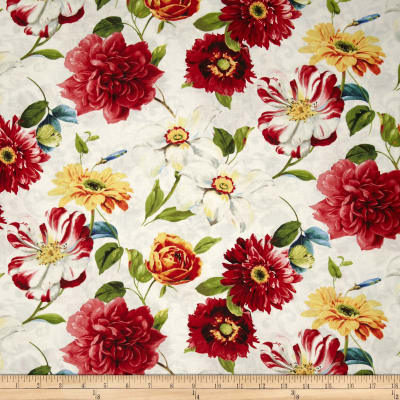 Rainbow Garden Large Floral Allover White