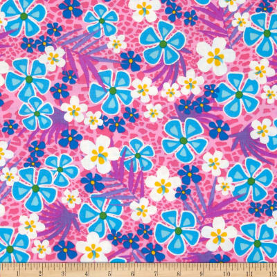 Beach Party Floral Bright Pink