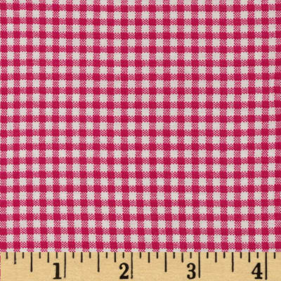 Basic Training Small Gingham Fuchsia/White