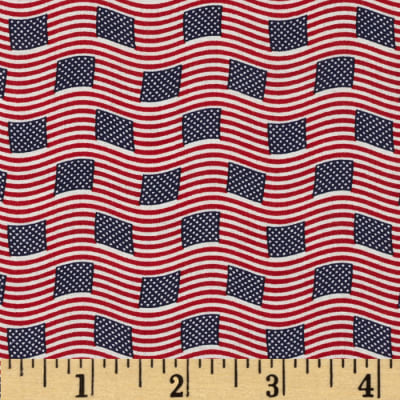 Made in the USA Small Flags Red, White, Blue
