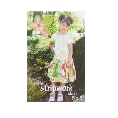 Pink Fig Patterns No. 5 Stripwork Skirt Pattern