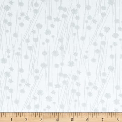 Get Back! 108'' Wide Floral Gray/White