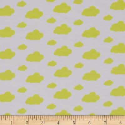 Dreamland Flannel Dream Clouds White/Sunshine Yellow