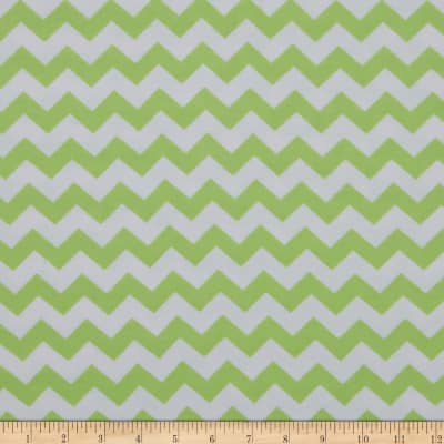 Dreamland Flannel Chevron Green Apple