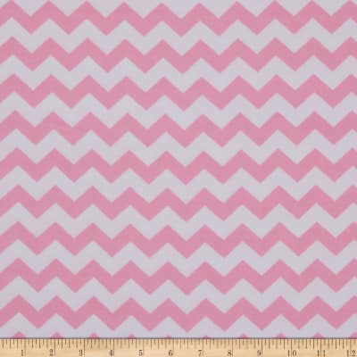 Dreamland Flannel Chevron Pink Carnation