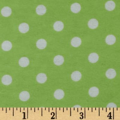 Dreamland Flannel Happy Dots Green Apple