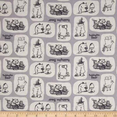 Paddington Bear Tiles in Grey