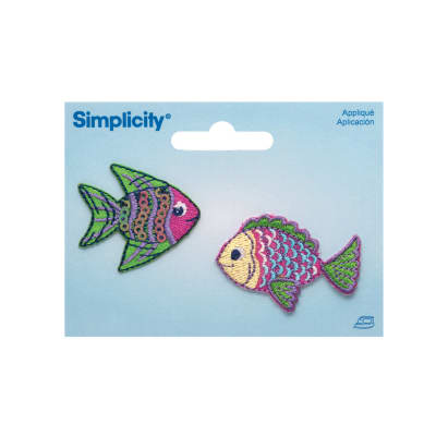 Simplicity Iron On Appliques 2/Pkg Tropical Fish