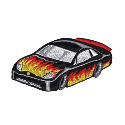 Wrights Iron On Applique Race Car