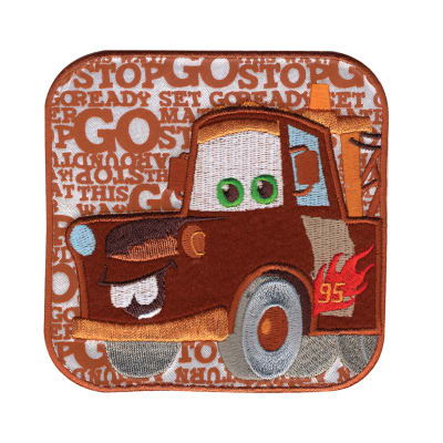 Disney Cars Mater Words Iron On Applique