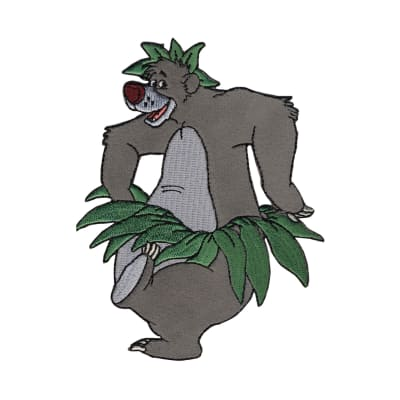 Disney Jungle Book Iron On Applique Baloo