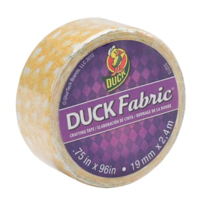 "Fabric Tape .75"" x 96""-Yellow Speckled Dot"