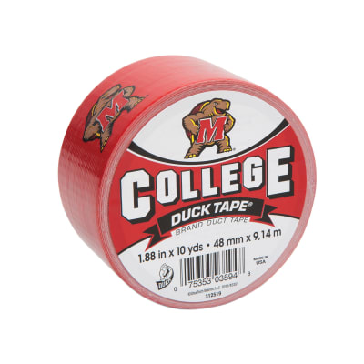"College Logo Duck Tape 1.88"" x 10yd-Maryland"