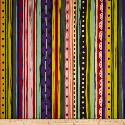 Alexander Henry Africa Nyanza Stripe Eggplant/Red