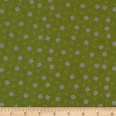 Briarcliff Mini Squares Dark Green