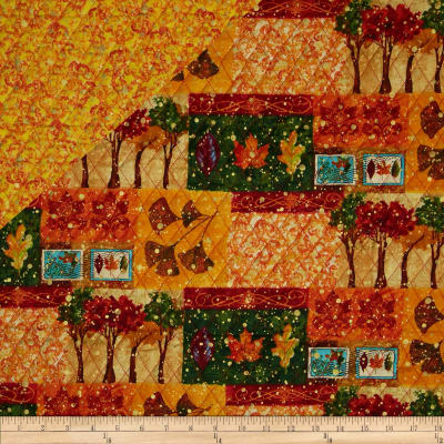 Changing Seasons Double Sided Quilted Patchwork Multi