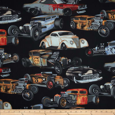 Alexander Henry Nicole's Prints Rat Rods Black
