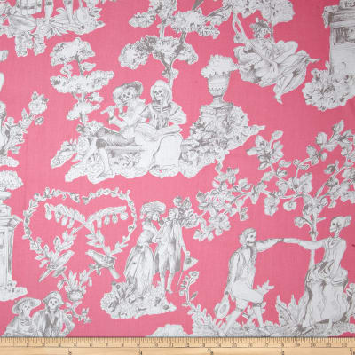 Alexander Henry Nicole's Prints The Romantics Pink Grey