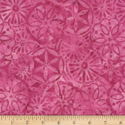 Timeless Treasures Tonga Batik L'amour Petal Patchwork Pink