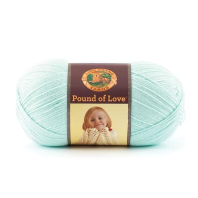 Lion Brand Yarn Pound of Love Pastel Green