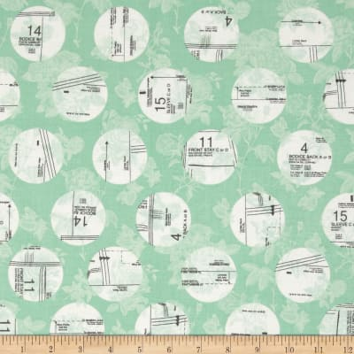 Riley Blake Sew Charming Circles Mint