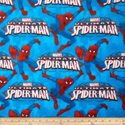 Marvel Comics Spiderman Fleece Ultimate Spiderman Blue