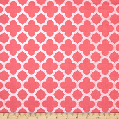 Riley Blake Sparkle Quatrefoil Hot Pink