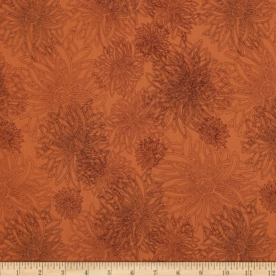 Art Gallery Elements Floral Russet Orange