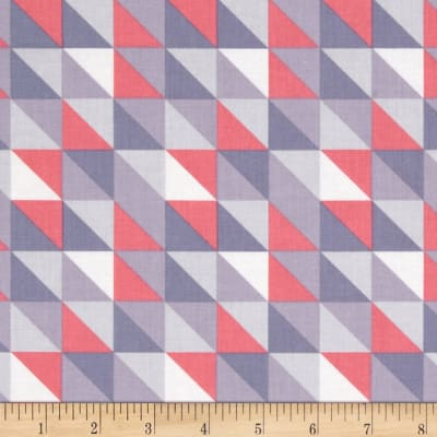Camelot Pastel Me More Triangles Grey