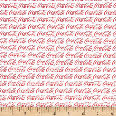 Coca Cola Allover White