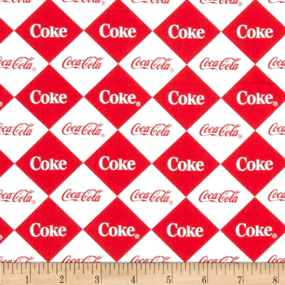Coca Cola Argyle Allover Red/White