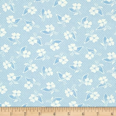 Moda Fresh Air Two Toned Floral Light Blue