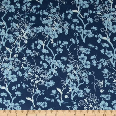 Art Gallery Voile Branch Silhouette Blue
