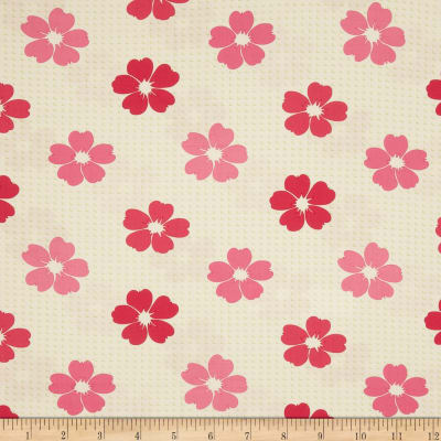 Moda Bandana Flower Grid Party Pink