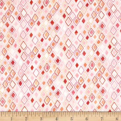 Moda Fresh Cut Daisy Patch Pink Flambe