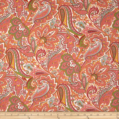 Dover Flannel Paisley Coral