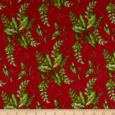 Yuletide Memories Large Holly Red