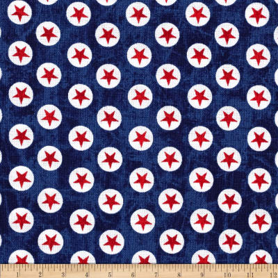 USA Star Dots Navy