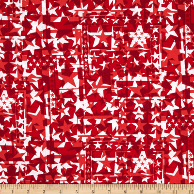 USA Star Collage Red