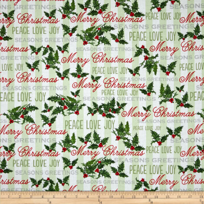 Seasons Greetings Word Stripe Multi