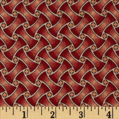 Jeanne Horton The Settlement Collection Basket Weave Red