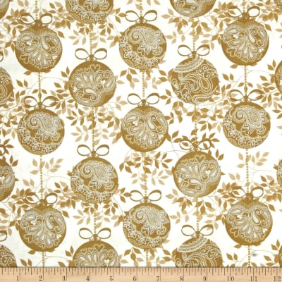 Glisten Metallic Ornaments Gold