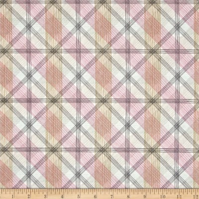 Blend Natural Wonder Linear Plaid Pink
