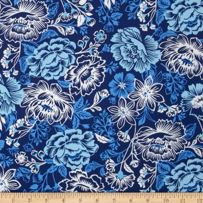 Sing the Blues Floral White/Blue