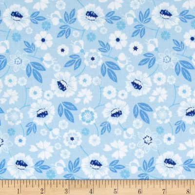 Sing the Blues Medium Floral Light Blue